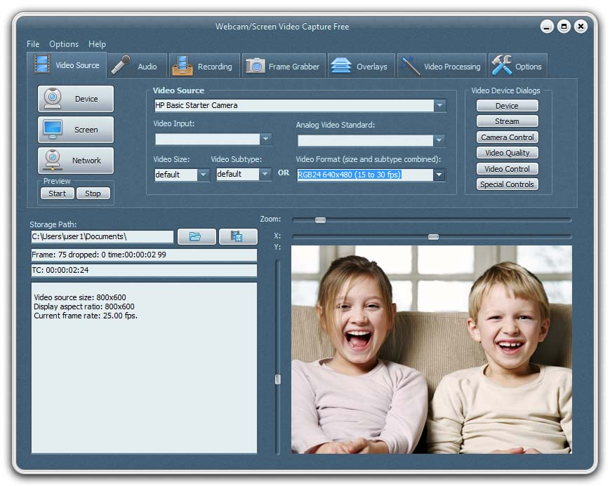 Webcam/Screen Video Capture Free freeware screenshot
